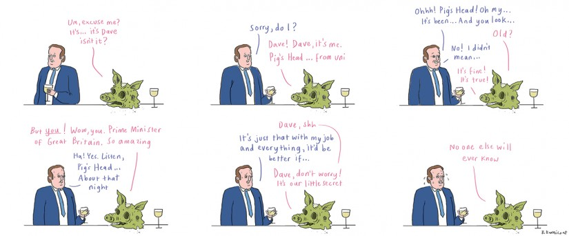 David Cameron and Pig's Head
