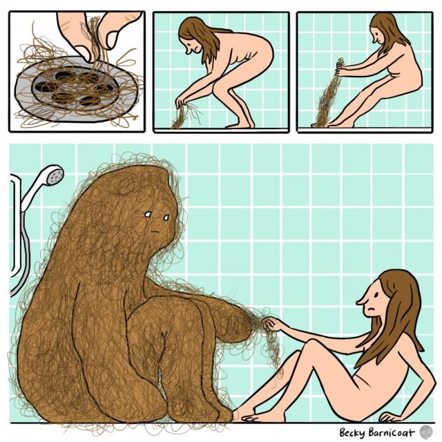 Shower monster