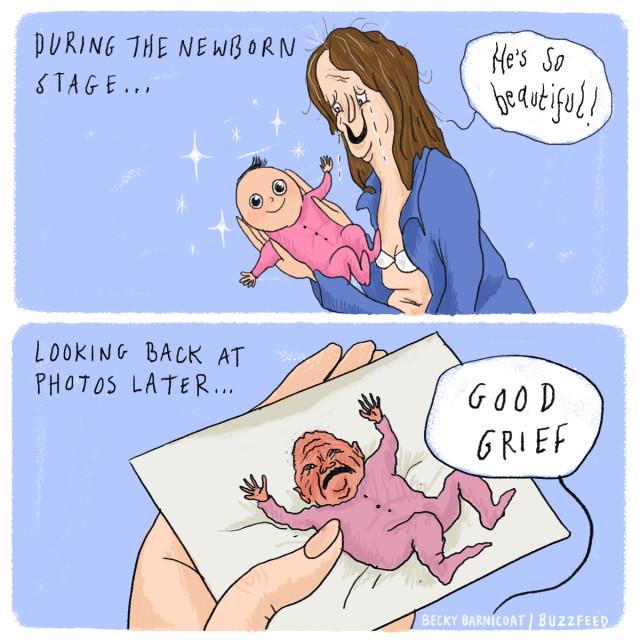 Newborn stage vs later